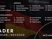 德国队最新号码:克洛斯特曼13号,埃格施泰因7号