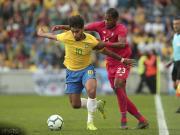 巴西1-1巴拿马,帕奎塔国家队首球,里沙利松、卡塞米罗中楣
