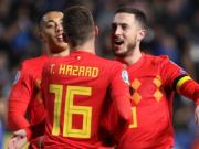 比利时2-0塞浦路斯,阿扎尔国家队百场,巴舒亚