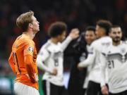 德容:上次我们踢德国也是半场0-2,但结果却比今天要好些