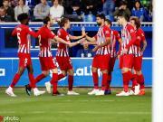 半场战报:阿拉维斯0-2马竞,萨乌尔建功,科斯塔弧线球破门