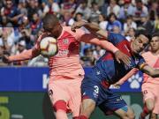 巴萨0-0客平韦斯卡,马尔科姆中柱,登贝莱失良机