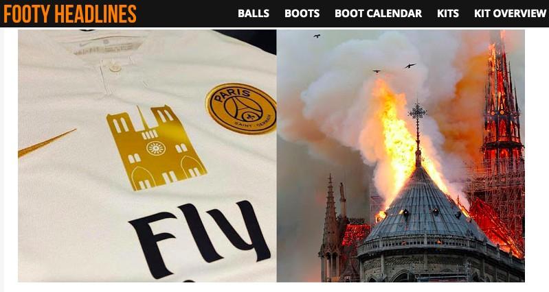 致敬巴黎圣母院,大巴黎将穿特制球衣迎战摩纳哥