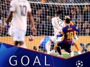 欧冠1/4决赛最佳进球:梅西内切世界波破曼联