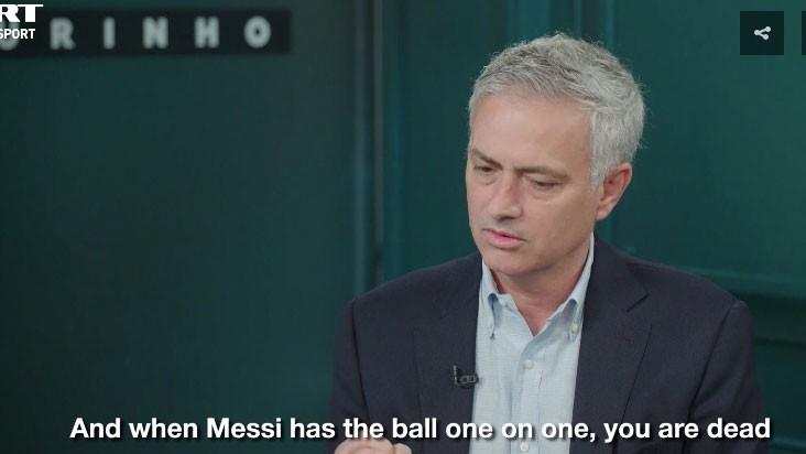 穆里尼奥:要防梅西,你必须造个笼子