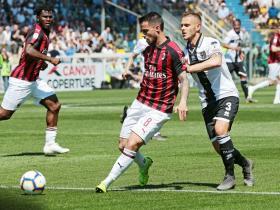 米兰1-1帕尔马,卡斯蒂列霍替补建功,库特罗内进球被吹