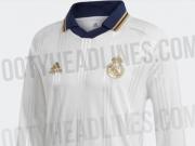 白衣身金队徽,阿迪达斯今夏将推皇马新赛季复古长袖球衣