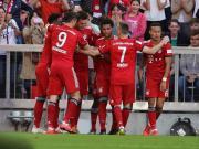 拜仁1-0十人不莱梅暂时领先多特4分,聚勒破门,莱万中楣