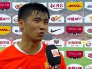 江子磊:进球被吹掉很可惜,我射完门对方才扑过来的