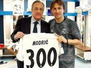莫德里奇談300場紀念:希望再為皇馬踢100場