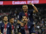 巴黎衛冕之夜3-1摩納哥,姆巴佩戴帽,內馬爾、卡瓦尼復出