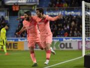 巴萨2-0客胜,若马竞输球将提前夺冠,阿莱尼亚、苏牙建功