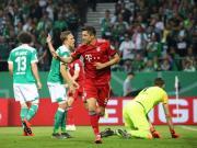 拜仁3-2不莱梅晋级德国杯决赛,莱万梅开二度,穆勒破门