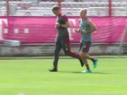 好消息!罗本今天参与了拜仁全队合练