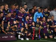 巴萨1-0莱万特提前三轮夺冠,梅西建功取个人第十座西甲冠军
