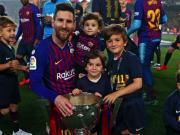 梅西晒照庆祝西甲夺冠,阿圭罗、小法等好友纷纷祝贺