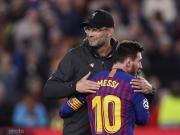 克洛普:梅西不可阻擋,想防住他那腳任意球是不可能的事