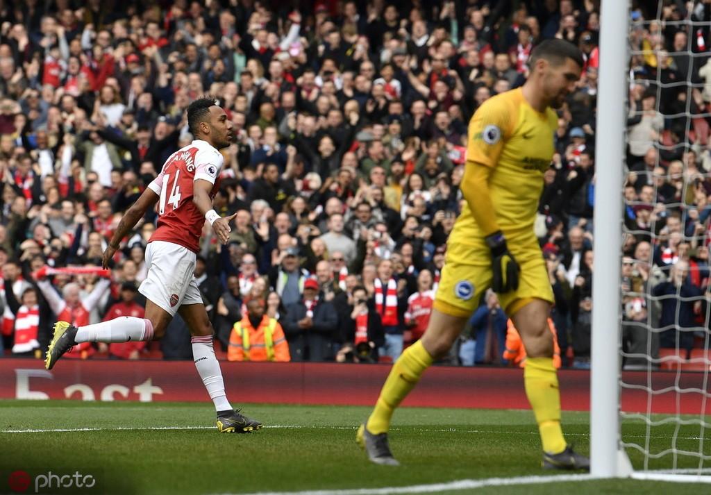 里程碑,奥巴梅扬成枪手第六位能在单赛季英超打进20球的球员 — 阿森纳