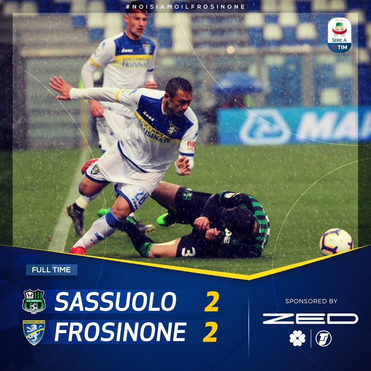 提前3轮,弗罗西诺内在本赛季意甲联赛降级 — 弗罗西诺内