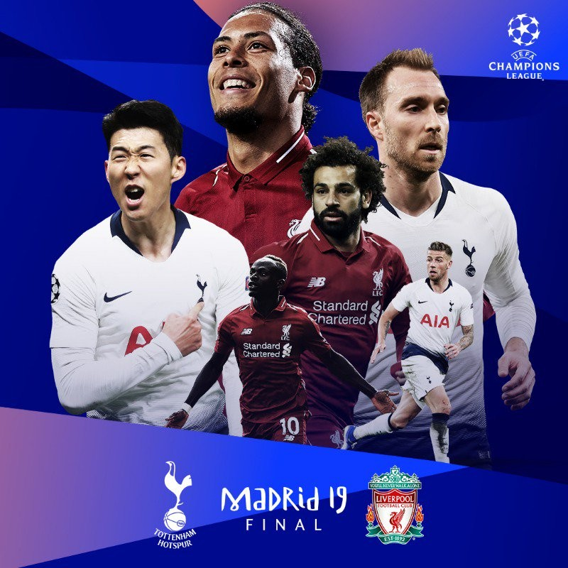 欧冠决赛对阵:利物浦vs热刺上演英超内战 — 利物浦