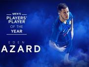 官方:阿扎尔当选2018-2019赛季切尔西最佳球员