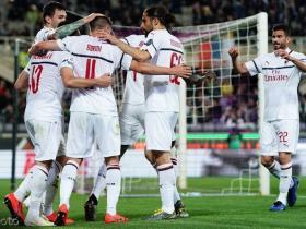 米兰1-0客胜佛罗伦萨暂时落后第四1分,恰尔汗奥卢头球制胜