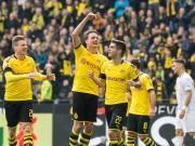 历史首支,多特蒙德单赛季德甲主场每场至少进两球