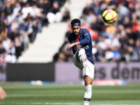 半场战报:昂热0-1巴黎,内马尔建功,布冯献神扑