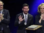 至高荣誉!梅西获得加泰罗尼亚圣约尔迪十字勋