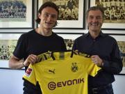 官方:多特蒙德签下霍芬海姆边翼卫舒尔茨