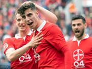 踢球者德甲赛季最佳阵容:拜仁4人,罗伊斯和哈弗茨入选