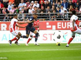 半场战报:巴黎0-1兰斯,迪马利亚中边网,巴巴穿裆破门