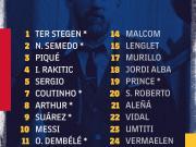 巴萨国王杯决赛大名单:梅西领衔,多名伤员在列随队出征