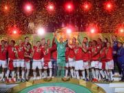 拜仁3-0莱比锡夺德国杯冠军加冕双冠王,莱万双