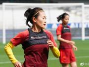 女足进行抵达法国后首堂训练课,王焱:用实力赢得更多关注