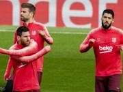 阿斯:国王杯决赛失利后,梅西、皮克和苏牙在大巴上紧急会谈
