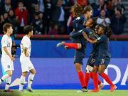 法国女足4-0韩国取开门红,勒佐默进本届首球,