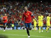 西班牙3-0瑞典,拉莫斯8场7球,莫拉塔点射,奥亚