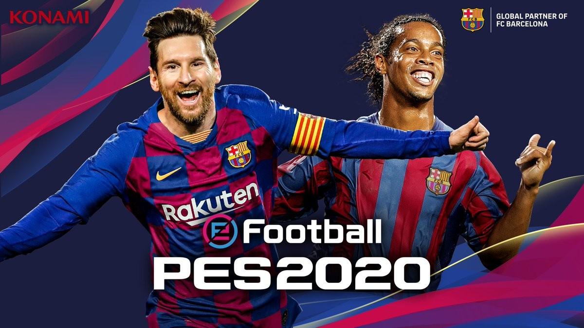 梅西登上PES 2020封面,传奇版封面人物是小罗