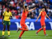 中国女足1-0南非女足取?#36164;ぃ?#26446;影制胜球,18?#31449;?#25112;西班牙