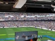 """等阿扎尔亮相时,伯纳乌的皇马球迷一起喊""""我们要姆巴佩"""""""