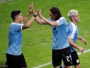 乌拉圭4-0十人厄瓜多尔获开门红,苏牙传射,卡瓦尼倒钩破门