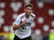欧青赛:U21德国6-1塞尔维亚,瓦尔德施密特戴帽,达胡德传射