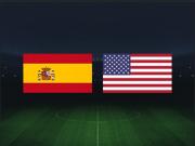 西班牙女足vs美国女足:摩根领衔美国队强阵出击