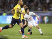 日本1-1厄瓜多尔双双出局,久保建英绝杀越位,中岛翔哉破门