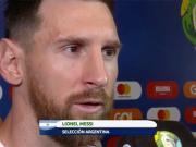 梅西:和巴西的比赛双方势均力敌;草皮状况很糟糕