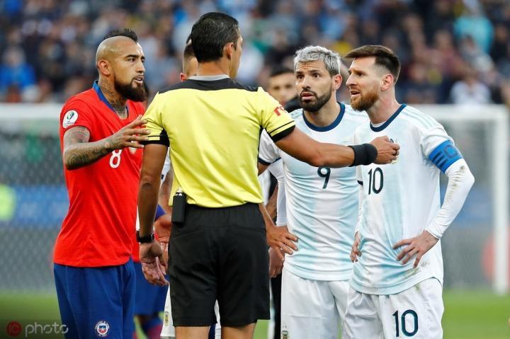 冤家路窄,阿根廷将在美洲杯揭幕战面对智利