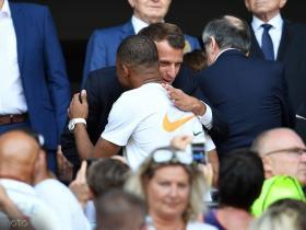 关注,姆巴佩和法国总统一起观看女足世界杯决赛