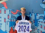 官方:里昂签下桑普多利亚中后卫约西姆-安德森
