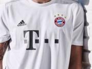 拜仁新赛季客场球衣发布,灰白配色朴实无华